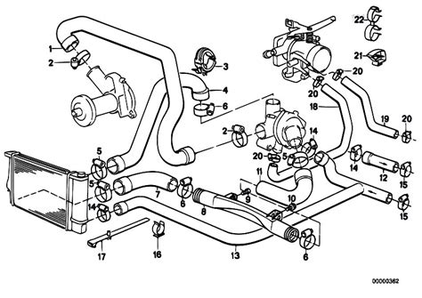 2001 Bmw 325i Engine Component Diagram by Original Parts For E34 520i M20 Sedan Engine Cooling