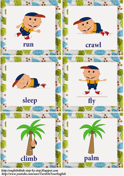 action verbs song  kids flashcards