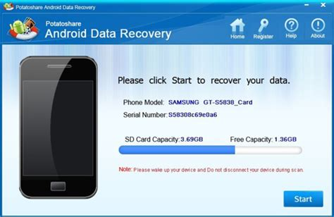 android photo recovery potatoshare android data recovery