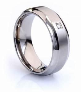 natural diamond mens titanium wedding ring With mens titanium wedding rings with diamonds
