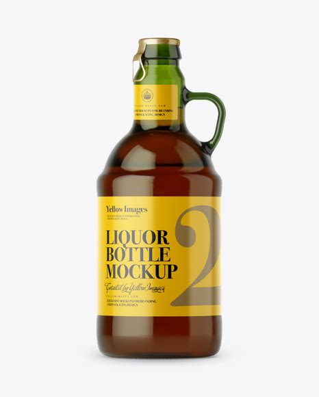 Free download antique green glass bottle packaging mockups psd mockups design and mockup templates to showcase your creative work in modern way available for commercial usage. Amber Glass Bottle With Handle Mockup - Dark Amber Glass ...