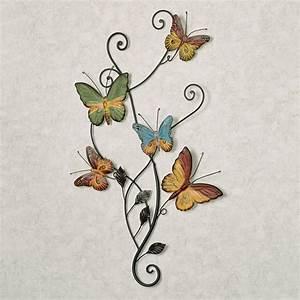 Dancing butterflies metal wall art