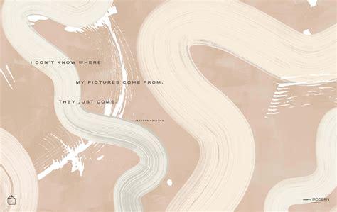 aesthetic beige desktop background
