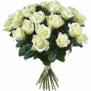Bouquet Fleurs Blanches : bouquet of long stemmed white roses aquarelle ~ Premium-room.com Idées de Décoration