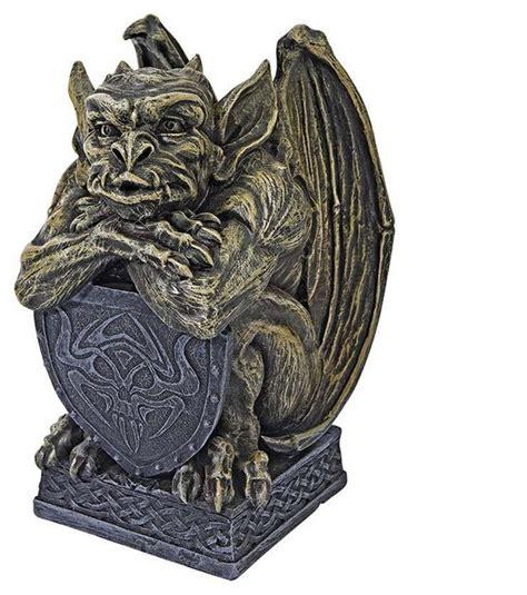 Gothic Medieval Castle Gargoyle Dragon Statue Sculpture Figurine   Traditional   Decorative