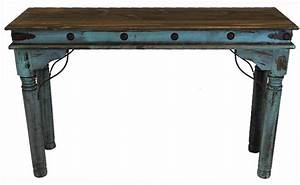 Antique Painted Turquoise Sofa Table Rustic Turquoise Sofa