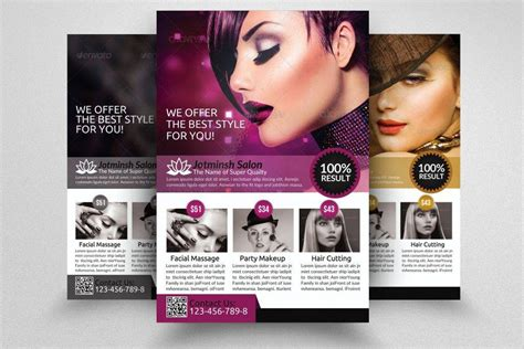 nail salon flyer designs examples psd ai word