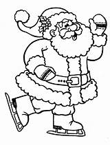 Coloring Santa Pages Christmas Claus Colouring Father Sheets Printable Holiday Activity Around Greetings Colors sketch template