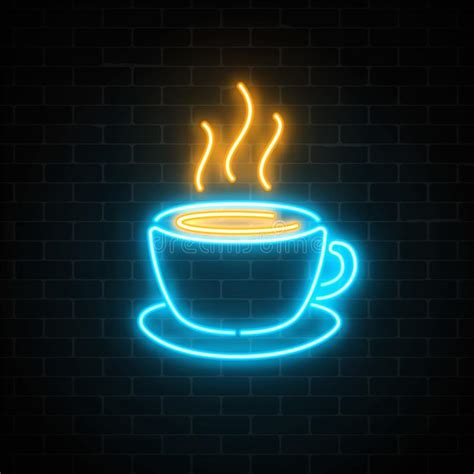 20 satisfying and aesthetically pleasing app icon themes for your iphone. Glowing Neon Coffee Cup Icon On A Dark Brick Wall Background. Light Effect Hot Beverage Or Cafe ...