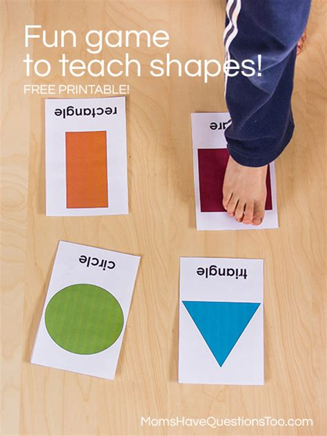 find the shape teaching shapes activity 971 | A fun game for toddlers or preschoolers that helps them learn shapes Moms Have Questions Too 2