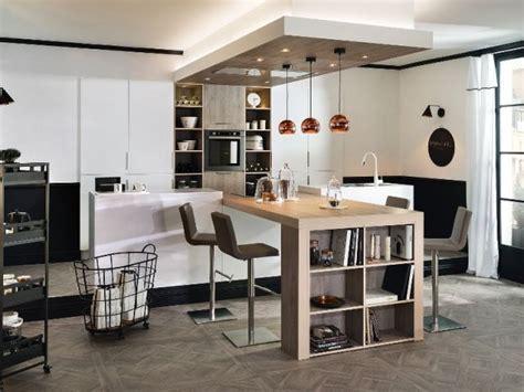 table haute de cuisine avec rangement cuisine idées de