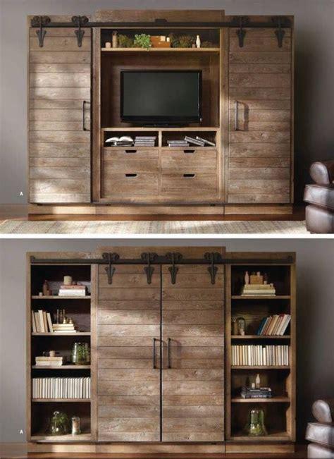 book shelf hide  tv driftwood reclaimed  genius home ideas   diy
