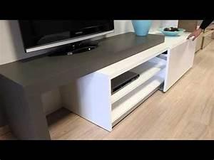 Meuble Tv Extensible : meuble tv extensible youtube ~ Teatrodelosmanantiales.com Idées de Décoration