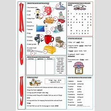 Kitchen Vocabulary Exercises Worksheet  Free Esl Printable Worksheets Made By Teachers