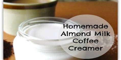 Place cashews in large jar or bowl. How to Make Homemade Almond Milk Coffee Creamer (With images) | Homemade almond milk, Almond ...