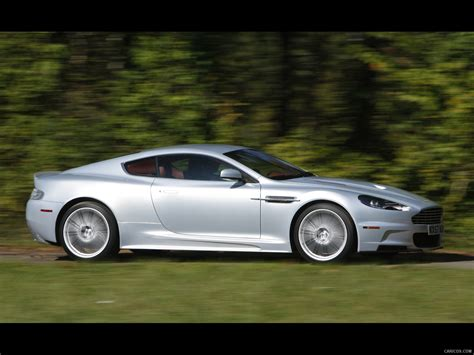 aston martin dbs lightning silver  side