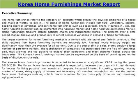 U.s. Home Decor Market Size : Korean Home Furnishings Market