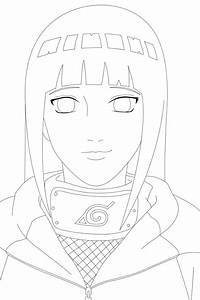 Hinata Lineart Commission by romigd13 on DeviantArt
