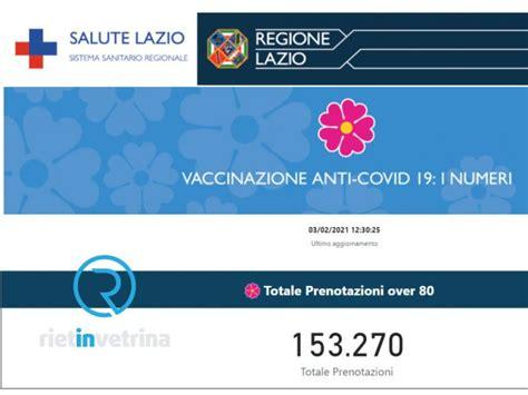 """Ota yhteyttä sivuun salute lazio messengerissä. Unità di Crisi Regione Lazio: """"Vaccino over 80 verso le ..."""