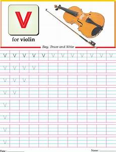 small letter v practice worksheet download free small With letter tracing toy