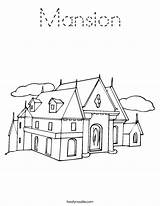 Coloring Mansion Worksheet Print Outline Built Noodle Tracing California Usa Twistynoodle Block Twisty sketch template