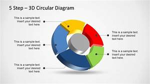 5 Step 3d Circular Diagram Template For Powerpoint