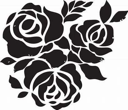 Stencils Printable Rose Decoration Via