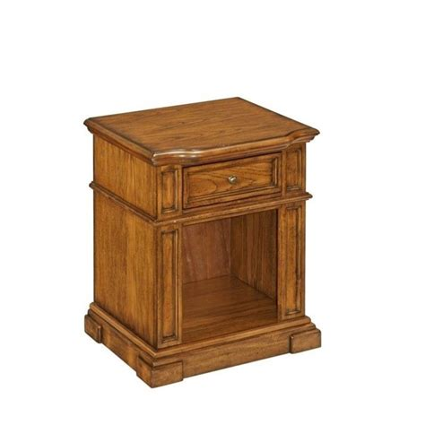 oak nightstand with drawers home styles americana stand in oak 523690