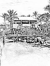 Coloring Boardwalk Adult Tropical Island Scene Bahamas Designlooter Drawings sketch template