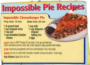 Bisquick Pumpkin Bread by Memere S Favorite Recipes Impossible Cheeseburger Pie