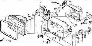 Honda Motorcycle 1983 Oem Parts Diagram For Headlight