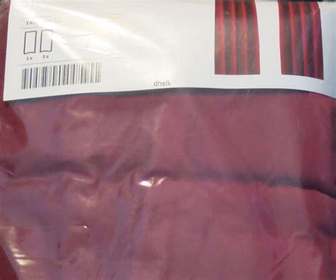 ikea sanela curtains drapes 2 panels dark pink velvet 98