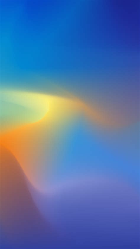 blue yellow gradient abstract 1080x1920 wallpaper