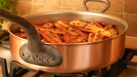 falk copper cookware      factory