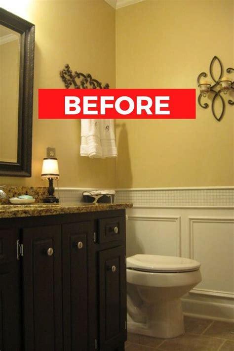 small guest bathroom makeover idea diy guest bathroom