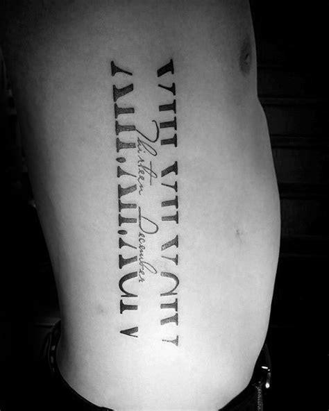 Top 101 Roman Numeral Tattoo Ideas - [2020 Inspiration