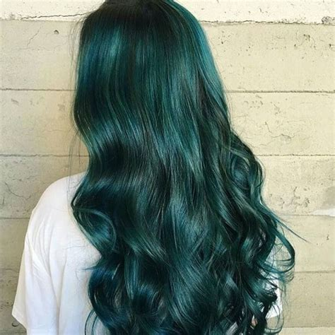 Best 25 Dark Green Hair Ideas On Pinterest Emerald Hair