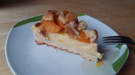 Streusel-kuchen Mit Pudding Und Pfirsichen Von Grießbrei89
