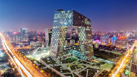 china beijing cctv headquarters building lighting preview