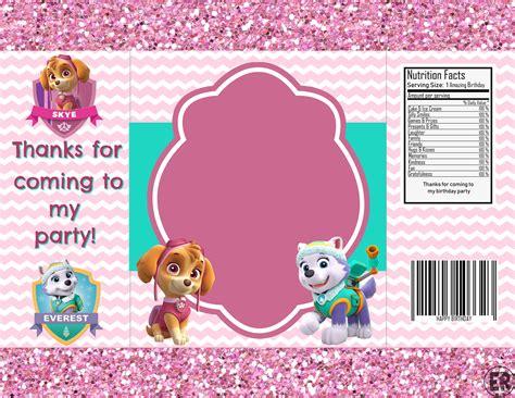 skye everest party paw patrol chip bag template picmonkey