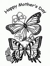 Coloring Pages Butterfly Adult Mothers Mother Butterflies Printable Sheets Happy Wuppsy Printables Fathers Print Colouring Cartoon Childrens Evening Library Welcome sketch template