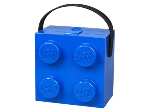 store lego lunch box  carry handle