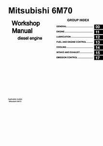 Mitsubishi 6m70 Workshop Manual Copy Free By Engineparts2