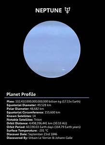 Neptune is the eighth planet from the Sun and the smallest ...