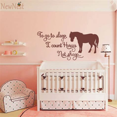 to go to i count horses not sheep themed wall