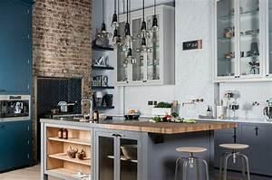 cuisine style industriel une beaute authentique With luminaire ilot central cuisine