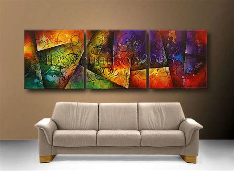 Modern Abstract Art Canvas Oil Painting (+framed) Gop36