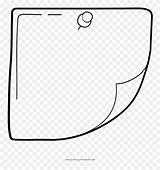 Sticky Note Pinclipart Coloring Transparent Clipart Clip sketch template