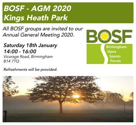 bosf agm  birmingham open spaces forum