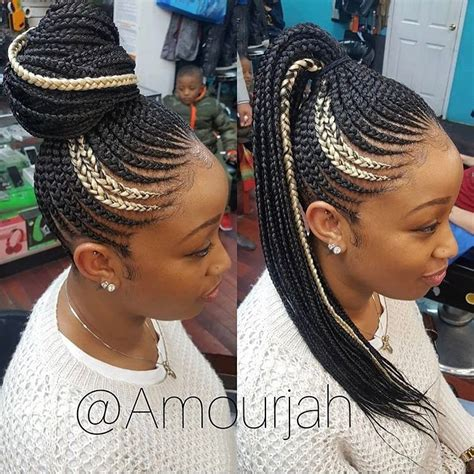Cornrow Ponytail Hairstyles For by Pin By Tameia On Hair And In 2019